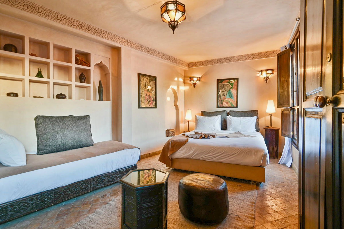 Riad Aya - Marrakech - Maroc - Chambre supérieure - Cannelle