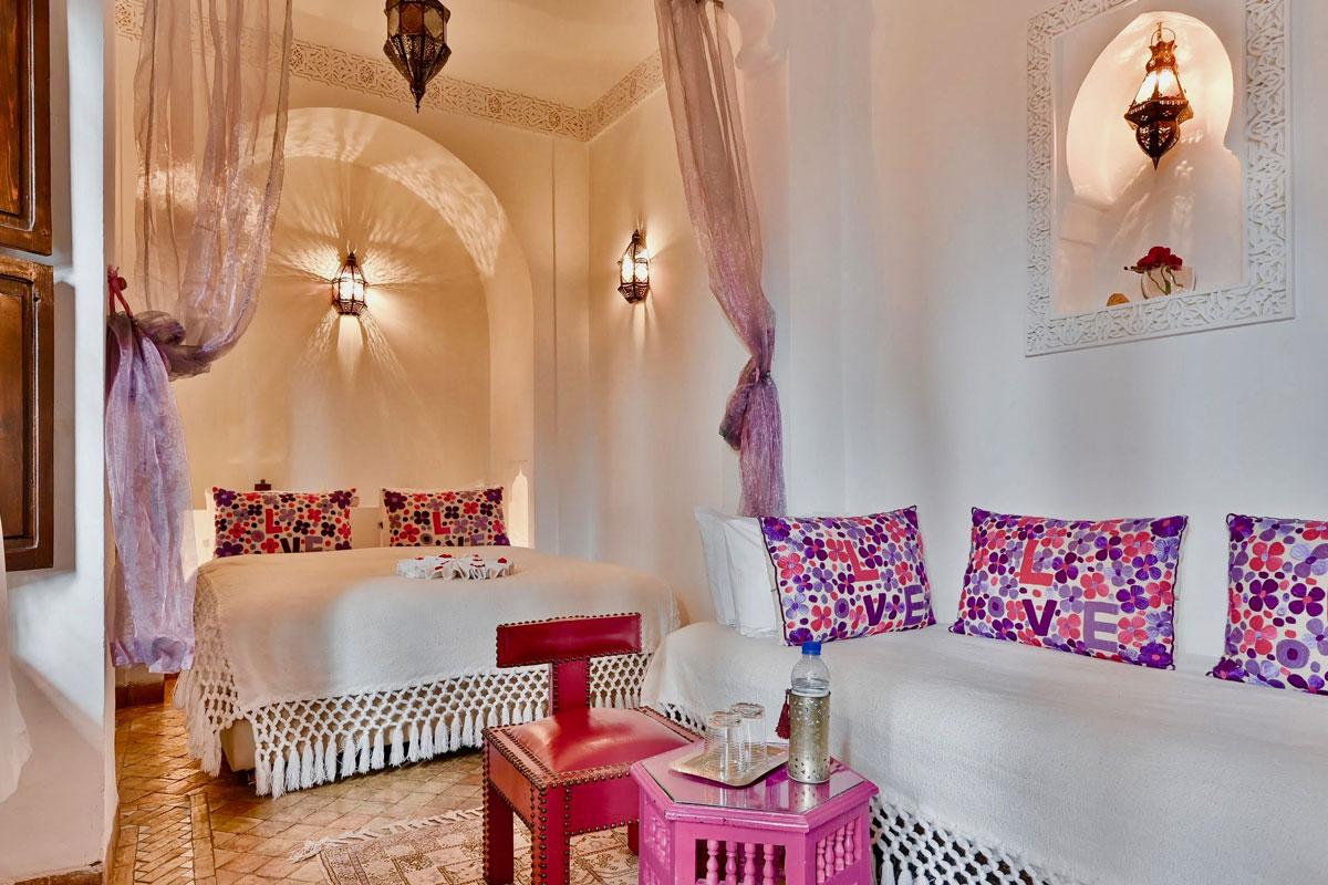 Riad Aya - Marrakech - Maroc - Chambre supérieure - Jasmin
