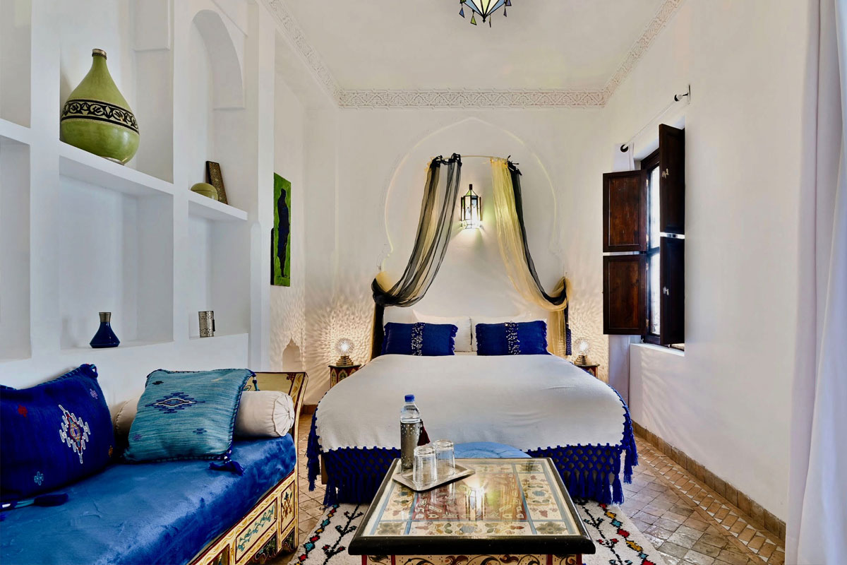 Riad Aya - Marrakech - Maroc - Chambre supérieure - Anis
