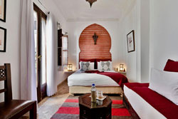Riad Aya - Marrakech - Maroc - Chambre supérieure - Paprika